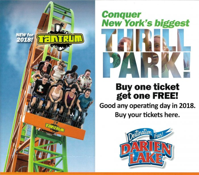 Darien Lake Is Back And Better Than EVER The Wyoming County Chamber Of Commerce Has An Amazing Offer For Our Members Employees Families