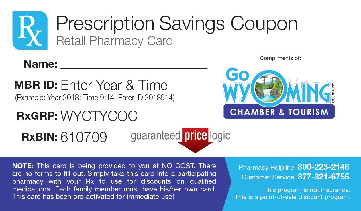 WyCo Free Prescription Drug Card
