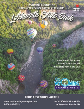 TOURISM IS CRITICAL TO WYOMING COUNTY'S ECONOMY PROVIDING